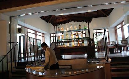 Galle Face Hotel Sri Lanka bar duplex bar with indoor seating area