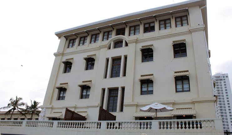 Galle Face Hotel Sri Lanka exterior hotel with windows and awnings