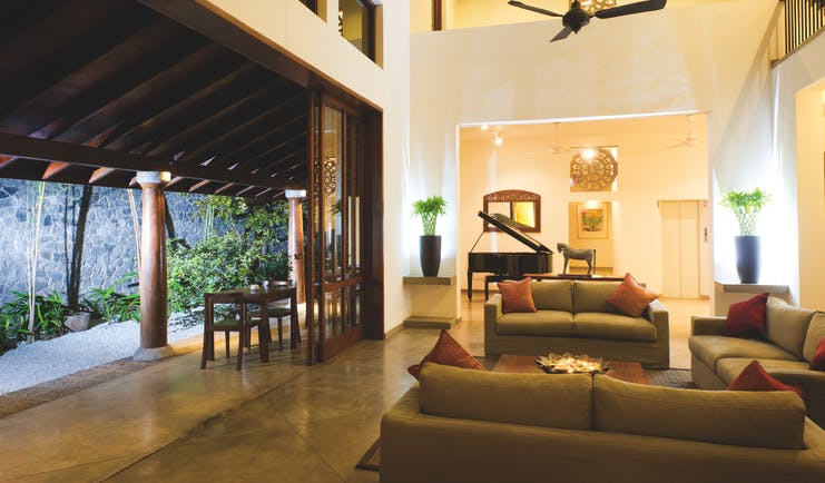 Zylan Sri Lanka lobby communal seating area piano modern décor