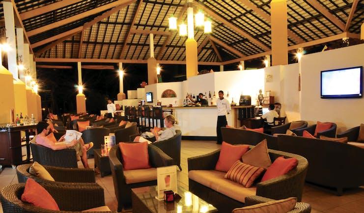 Amaya Lake Resort Sri Lanka bar indoor dining area modern décor