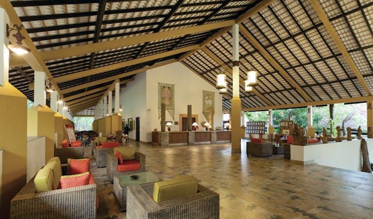 Amaya Lake Resort Sri Lanka lobby reception desk indoor seating modern décor