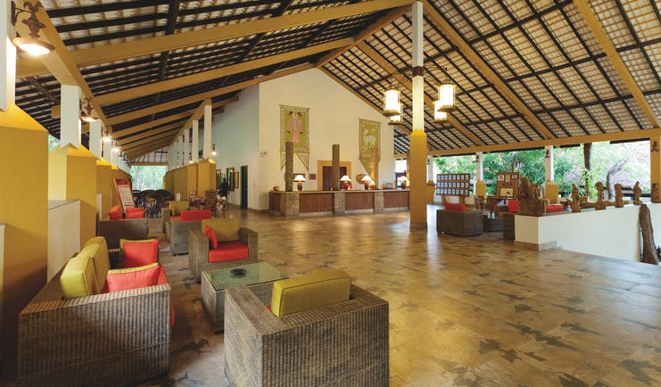 Amaya Lake Resort Sri Lanka lobby reception desk indoor seating modern décor
