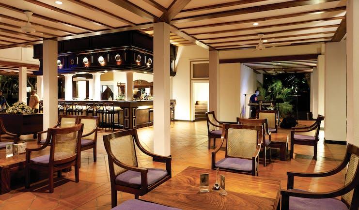Cinnamon Lodge Sri Lanka bar indoor seating area authentic décor