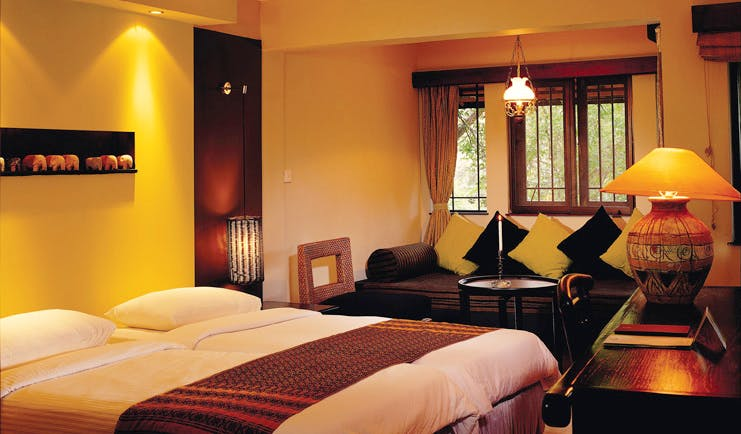 Deer Park Sri Lanka cottage bedroom traditional decor seating area