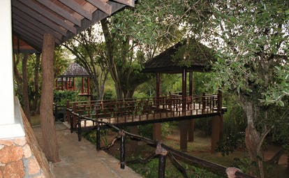 Deer Park Sri Lanka cottage gazebo bridge to gazebos in forest