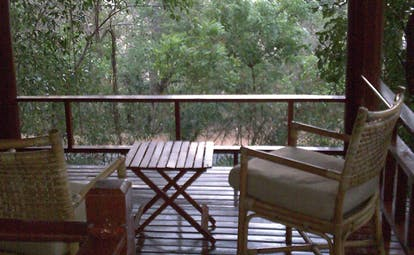 Deer Park Sri Lanka forest view armchairs in lookout in forest