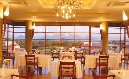 The Elephant Corridor Sri Lanka Ambrosia restaurant dining room panoramic windows