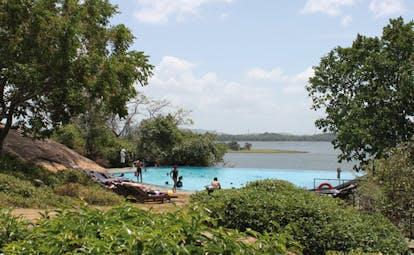 Heritance Kandalama Sri Lanka garden pool loungers and sea view