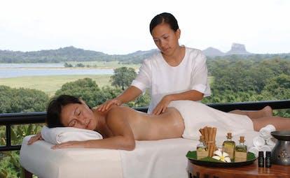 Heritance Kandalama Sri Lanka outdoor massage six senses spa