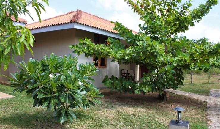 Kassapa Lion Rock Sri Lanka bungalow exterior trees