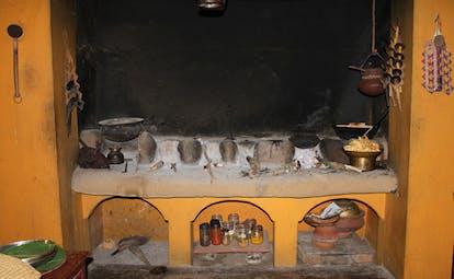 Ulpotha Sri Lanka kitchen pans jars and spices