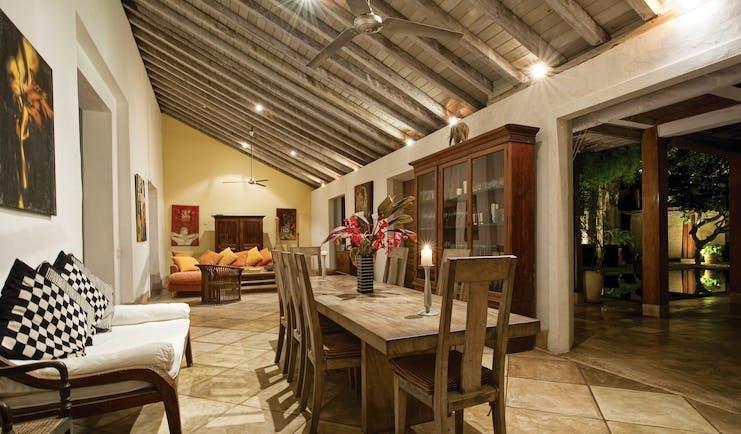 41 Lighthouse Street Sri Lanka interior dining table sofa modern art modern décor