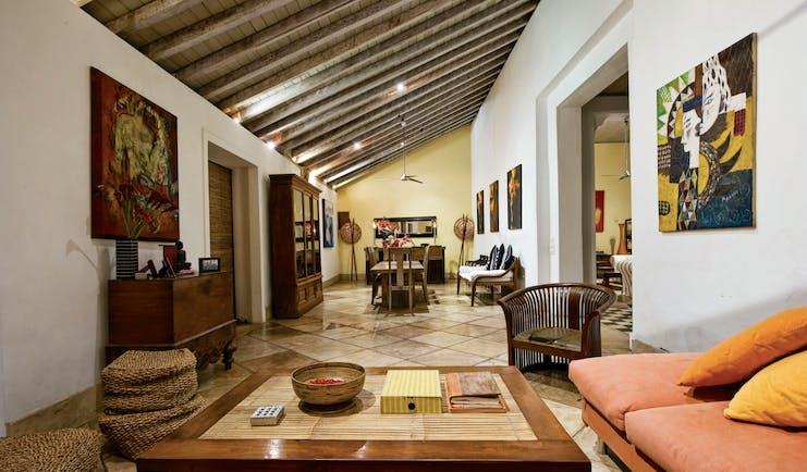 41 Lighthouse Street Sri Lanka lounge indoor  seating area modern art modern décor