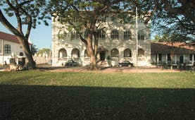 Amangalla  Sri Lanka hotel exterior lawns trees vintage cars
