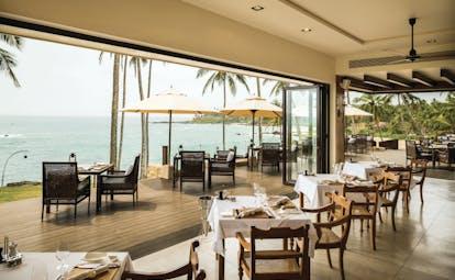 Anantara Peace Haven Tangalle Sri Lanka restaurant indoor and outdoor dining overlooking sea