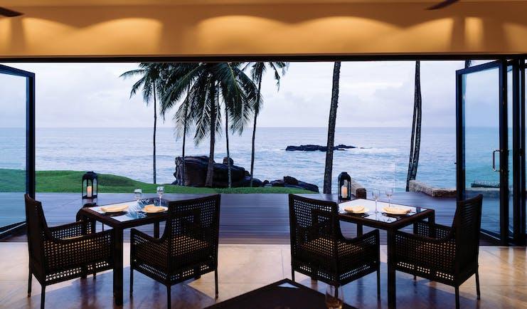 Anantara Peace Haven Tangalle Sri Lanka terrace dining area overlooking ocean