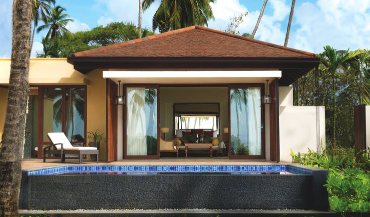 Anantara Peace Haven Tangalle Sri Lanka villa exterior private terrace and pool bedroom