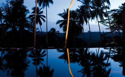 Kahanda Kanda Sri Lanka outdoor pool at night time