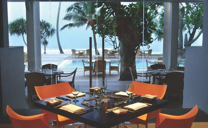 The Fortress Sri Lanka restaurant with pool and sea view