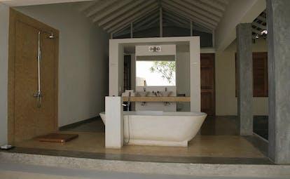 Frangipani Tree Sri Lanka bathroom open air bathroom stand alone bath tub shower