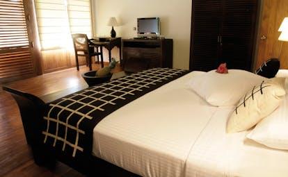 Weligama Bay Resort Sri Lanka villa bedroom with minimalist decor