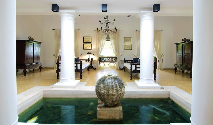 Why House Sri Lanka ambalama water feature indoor communal seating area