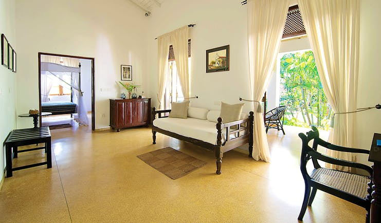Why House Sri Lanka suite living area sofa terrace leading to garden