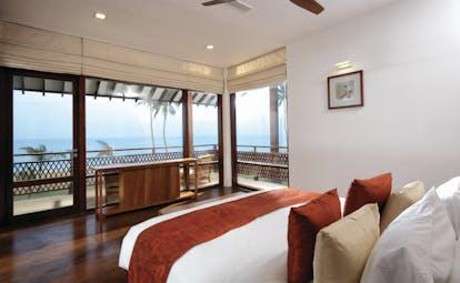 Anantaya Chilaw Resort Sri Lanka premium room bed panoramic terrace beach views