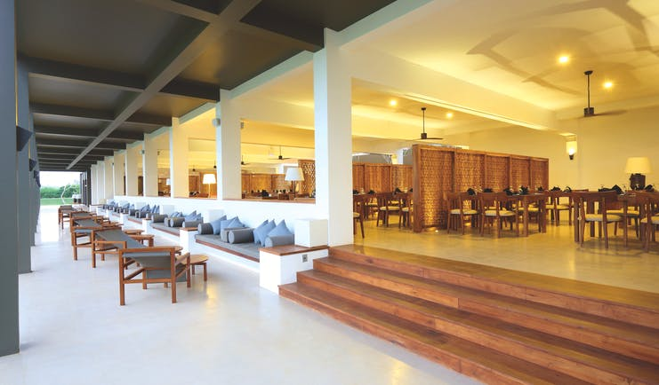 Anantaya Chilaw Resort Sri Lanka restaurant indoor and outdoor dining areas modern décor