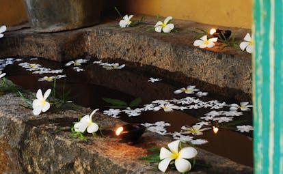 Ayurveda Pavilions Sri Lanka flower bath stone bath candles