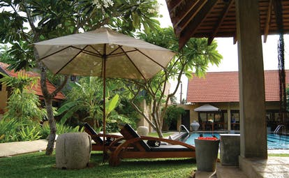 Ayurveda Pavilions Sri Lanka pool yoga pavilion loungers umbrellas