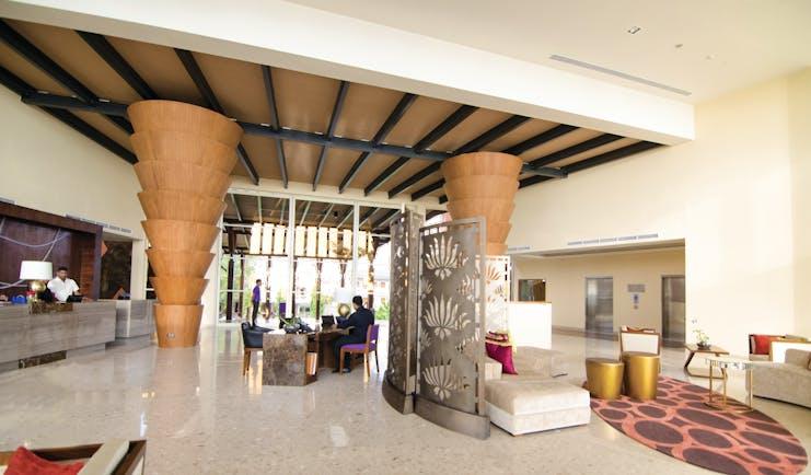 Heritance Negombo Sri Lanka lobby reception desk interesting architecture modern décor