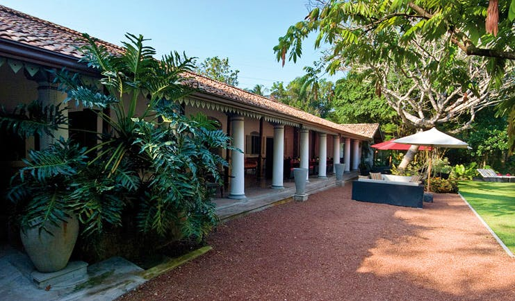 The Wallawwa Sri Lanka exterior bungalow gardens palm trees