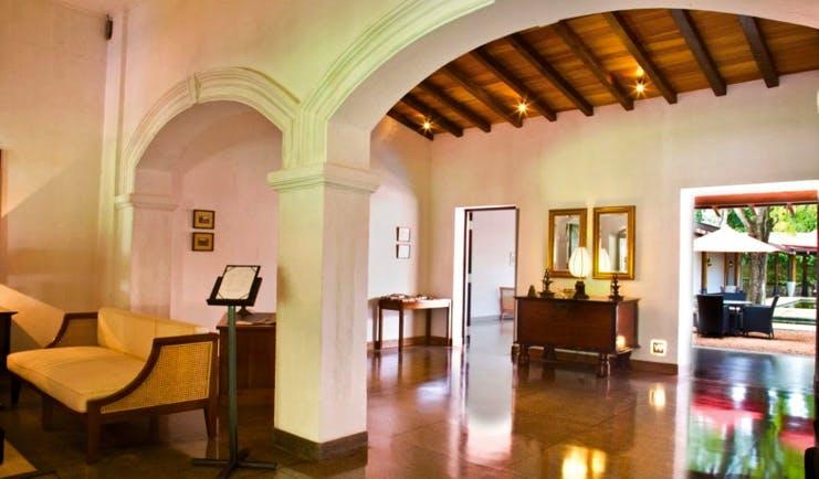 The Wallawwa Sri Lanka lobby white archways sofas