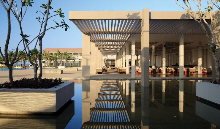 Amaya Beach Resort Sri Lanka exterior water feature modern architecture