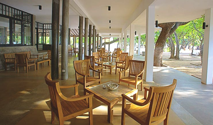 Nilaveli Beach Hotel Sri Lanka dining outdoor terrace garden views