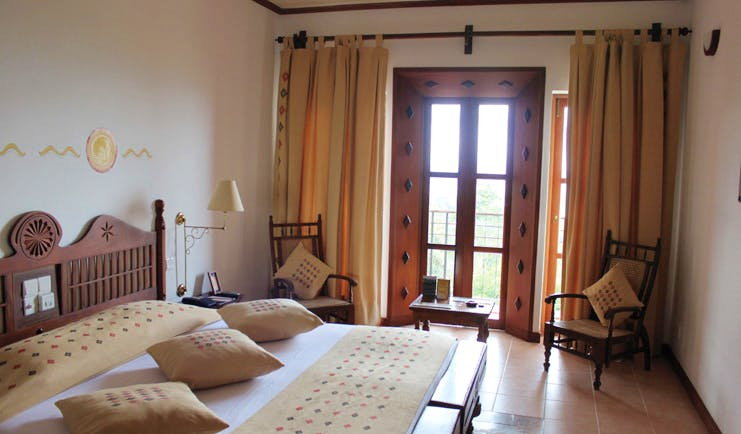 bedroom view traditional decor garden view