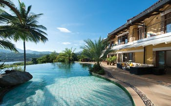 Bougainvillea Retreat Sri Lanka infinity pool terrace outdoor seating views of countryside