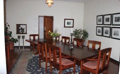 Ceylon Tea Trail Sri Lanka dining room long table traditional decor