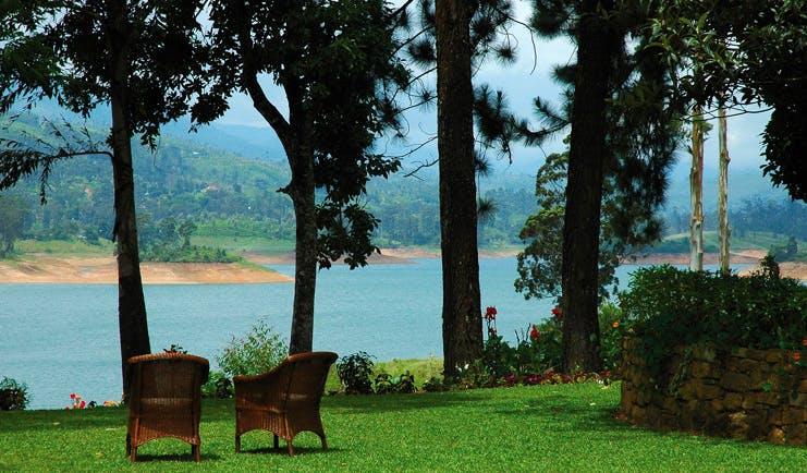 Ceylon Tea Trail Sri Lanka gardens wicker chairs lake view