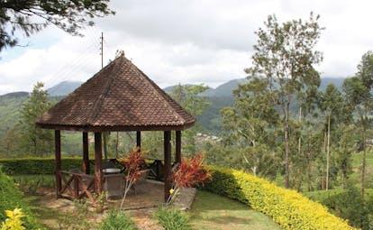 Ceylon Tea Trail Sri Lanka pagoda views ourtood seating area mountain view