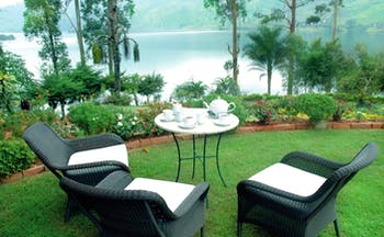 Ceylon Tea Trail Sri Lanka summerville garden outdoor dining room lake view
