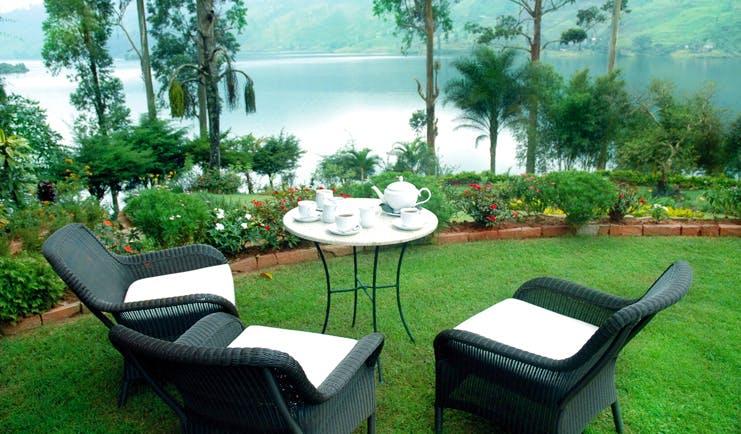 Ceylon Tea Trail Sri Lanka summerville garden outdoor dining room lake view