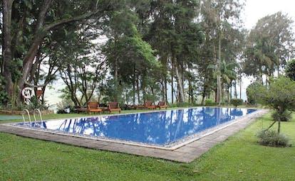 Ceylon Tea Trail Sri Lanka outdoor swimming pool and grassy surrouound
