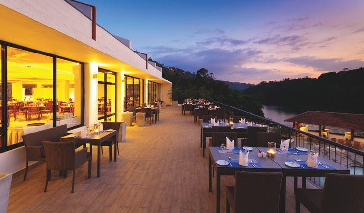 Cinnamon Citadel Sri Lanka dining terrace views of lake and countryside