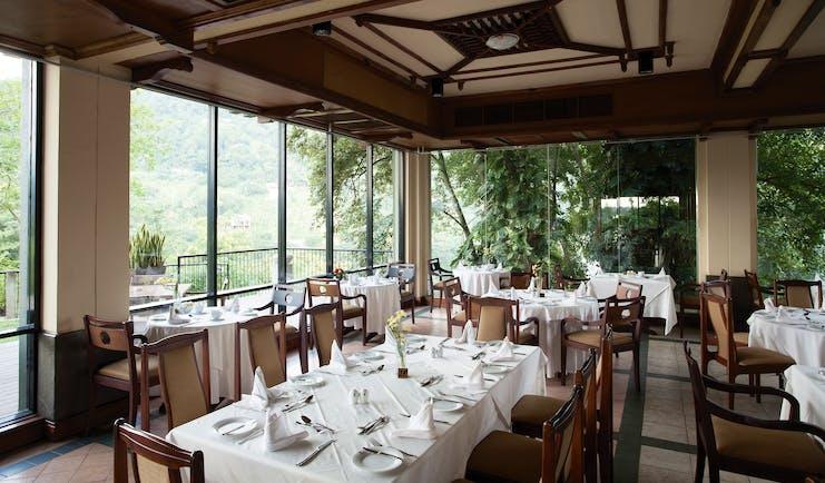 Earl's Regency Sri Lanka restaurant indoor dining area modern décor countryside views
