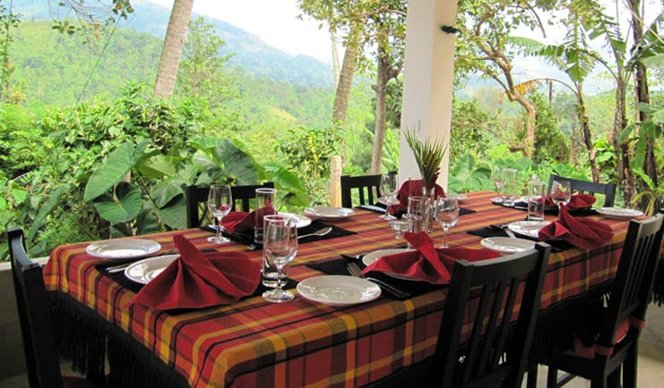 Ellerton Sri Lanka balcony dining traditional decor garden view