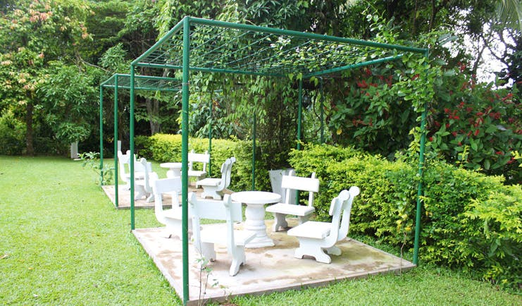 Ellerton Sri Lanka garden patio seating area plants flowers