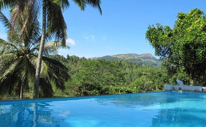 Ellerton Sri Lanka infinity pool forest and mountain view