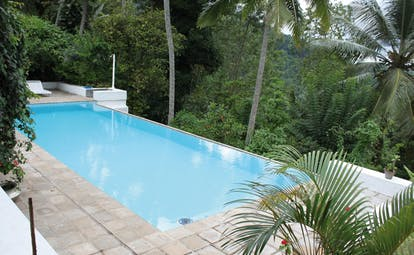 Ellerton Sri Lanka outdoor pool loungers forest view